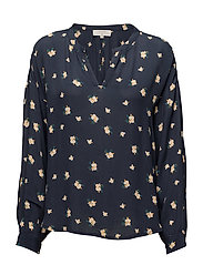 Connie l/S blouse - ROYAL NAVY BLUE
