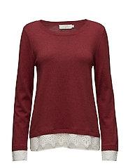Lavalin Pullover - RED DAHLIA