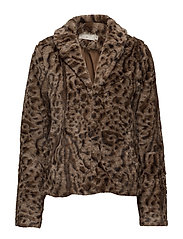 Char Fur Jacket - PITCH BLACK