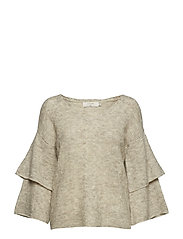 Penelope Knit pullover - OAT MELANGE