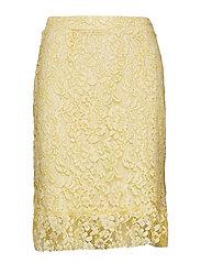 Clarita Lace Skirt - YOLK YELLOW