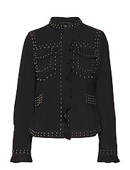 Sue Suede jacket - PITCH BLACK