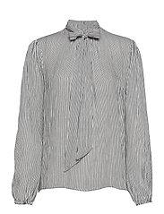 Bowie blouse - BLACK WHITE STRIPE