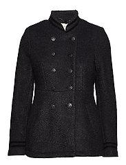 Annabell short Coat - BLACK MELANGE