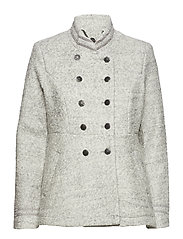 Annabell short Coat - LIGHT GREY MELANGE