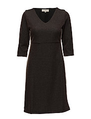 Holly Dress - overknee 3/4 sl - TOFFE BROWN