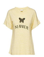 Sandy T-shirt - YOLK YELLOW