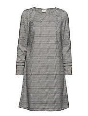 Chery dress stripe - overknee - PITCH BLACK