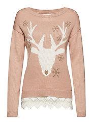 Reindeer Pullover - BLUSH POWDER