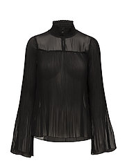 Tara Solid Blouse - PITCH BLACK