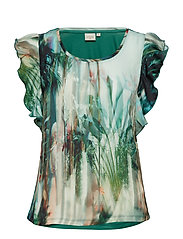 Palm T-shirt - MALACHITE GREEN