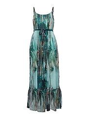 Jeanne Long Dress - MALACHITE GREEN