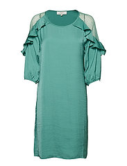 Carlie Dress - BOTTLE GREEN