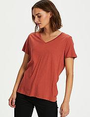 Cream - Naia T-shirt - t-shirts - baked clay - 0