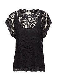 Vivi Lace Blouse - PITCH BLACK