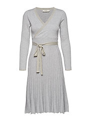 Clary Knit Dress - LIGHT GREY MELANGE