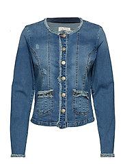 Delina Denim Jacket - CLEAR BLUE DENIM
