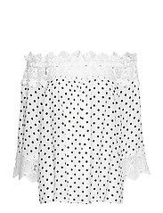 Bea Dot blouse - CHALK WITH BLACK DOTS