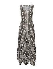 Bastily Dress - LEAD GREY/SNAKE PRINT