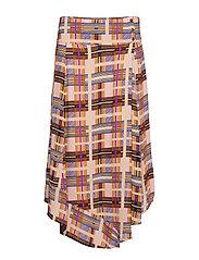 Checka Skirt - DACHSHUND BROWN