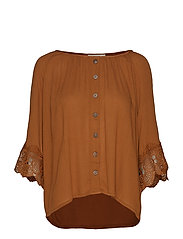 Bea button blouse - BRONZED