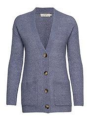 Gina Oversize Knit Cardigan - INFINITY MELANGE BLUE