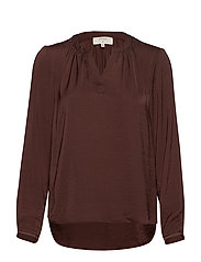 Christy Blouse - CHICORY COFFEE