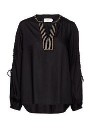 Luxa blouse - PITCH BLACK
