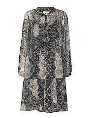 Snaky dress - PITCH BLACK