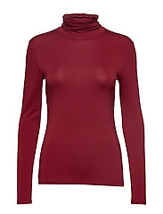 Villa Blouse - MERLOT RED
