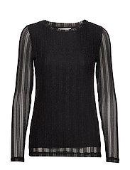 ZoeCR Long Sleeve T-shirt - PITCH BLACK