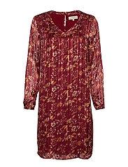 Nila Dress - MERLOT RED
