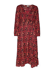 IsleyCR Dress - MERLOT RED