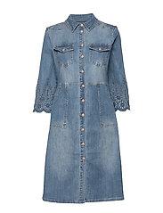 RositaCR Denim Dress - LIGHT BLUE DENIM