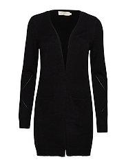KaitlynCR Cardigan Soft - PITCH BLACK SOLID