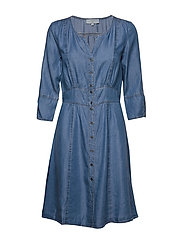 BaliceCr denim dress - BLUE DENIM