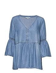 VincaCr boho blouse - BLUE DENIM