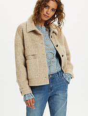 Cream - CRCarla Short Jacket - faux fur - sesame melange - 0