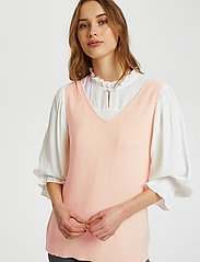 Cream - CRSillar Knit Top - knitted vests - pink sand - 0