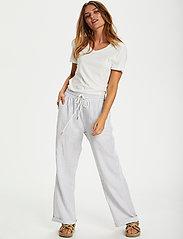 Cream - CRVenta Pant - bukser med brede ben - blue stripe - 3