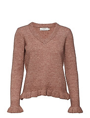 Kaitlyn Flounce Pullover - OLD ROSE