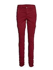 LinaCR Pants - MERLOT RED