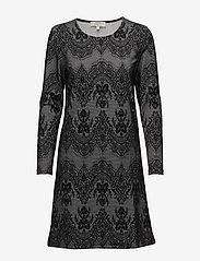 Cream - Linea dress - midi dresses - pitch black - 0