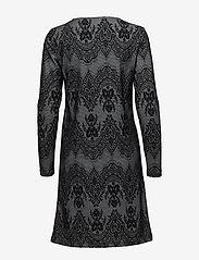 Cream - Linea dress - midi dresses - pitch black - 1