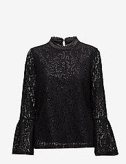 Cream - Izabel Sequin Blouse - blouses à manches longues - pitch black - 0