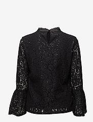 Cream - Izabel Sequin Blouse - blouses à manches longues - pitch black - 1