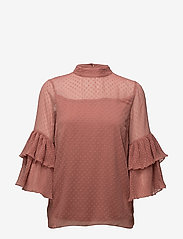 Cream - Vera Blouse - long sleeved blouses - withered rose - 0
