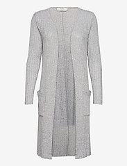 Cream - Mandy Cardigan - swetry rozpinane - light grey melange - 0
