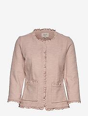 Cream - Nellie cardigan - marynarki - rose dust - 0