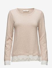 Cream - Lavalin Pullover - jumpers - rose dust - 0